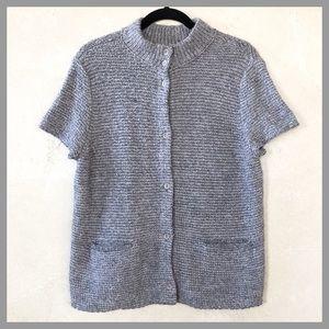 Eileen Fisher Alpaca Organic Wool Sweater Cardigan
